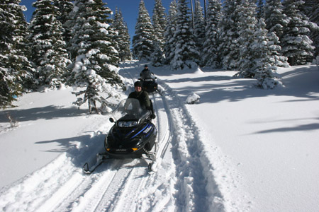 Snowmobile Mountain Adventure